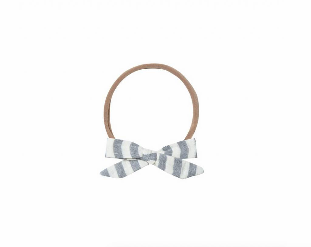 RYLEE AND CRU Ivory Storm Stripe Bow Headband