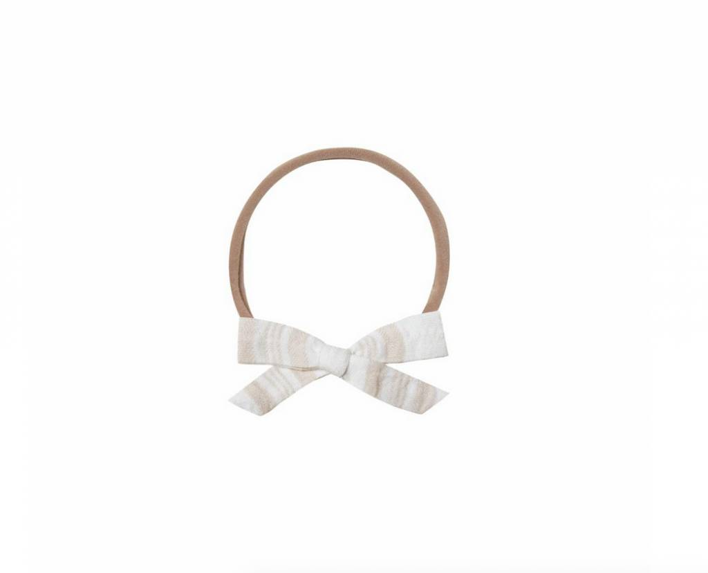 RYLEE AND CRU Ivory Sand Stripe Bow Headband