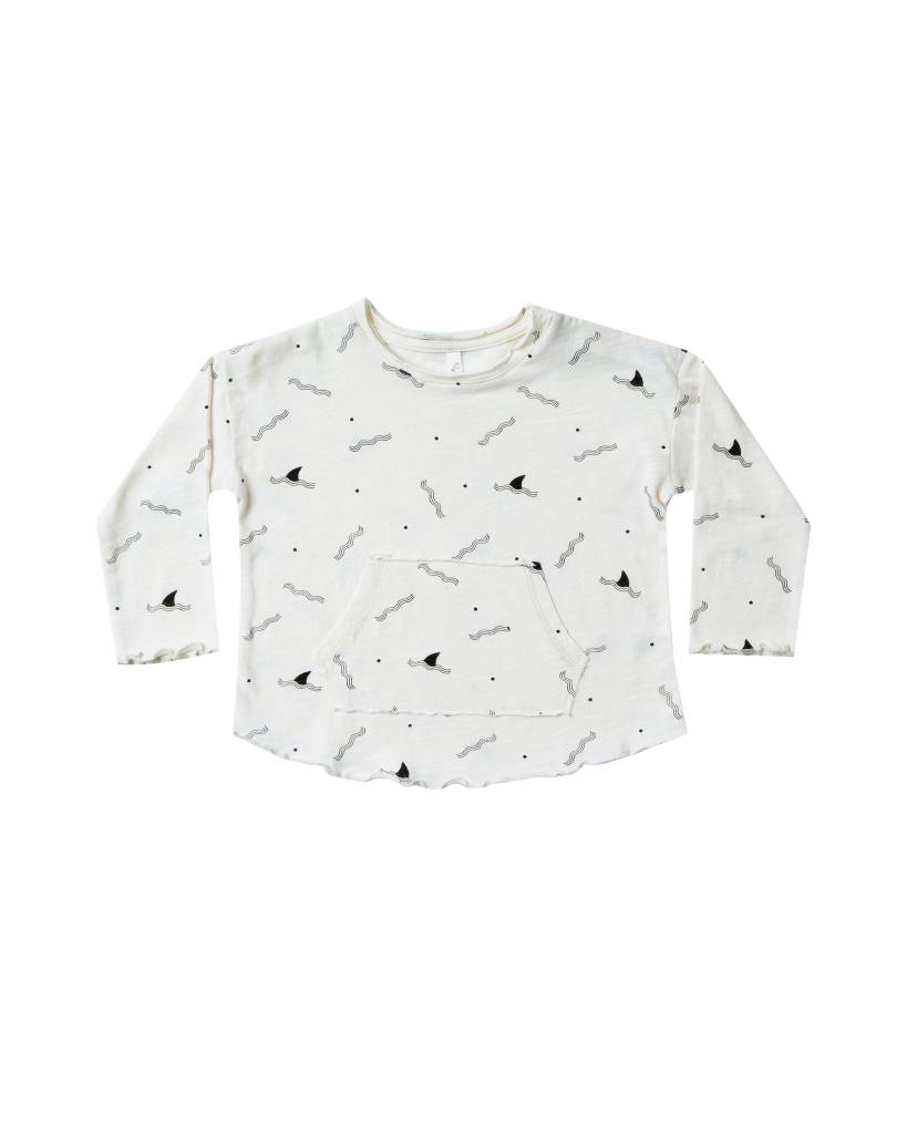 RYLEE AND CRU Baby Shark Fin Pouch Tee