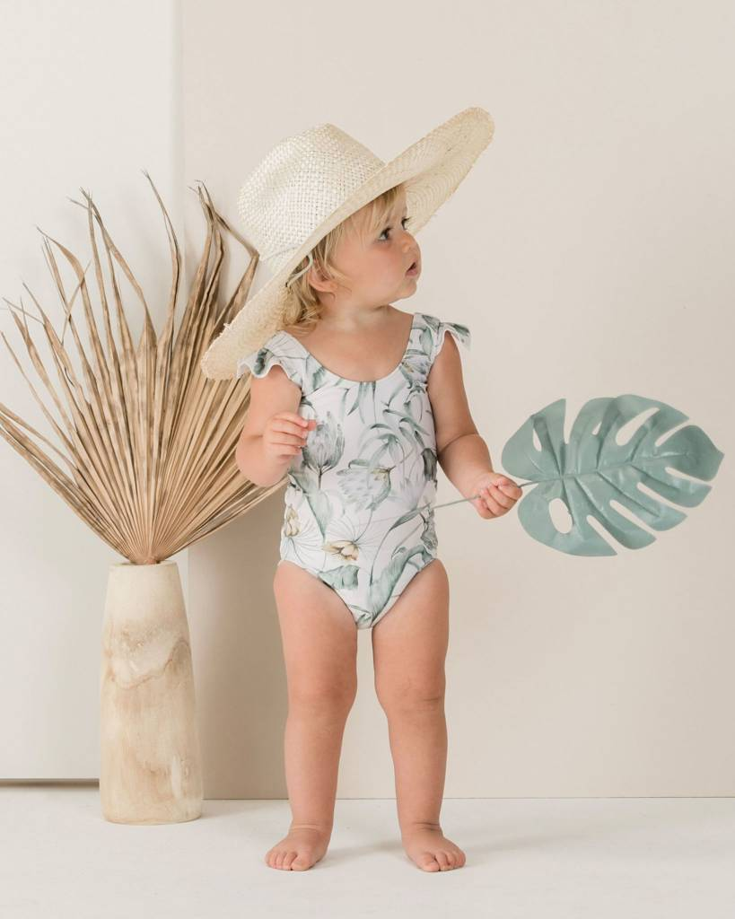 RYLEE AND CRU Baby Tropical Frill Onepiece