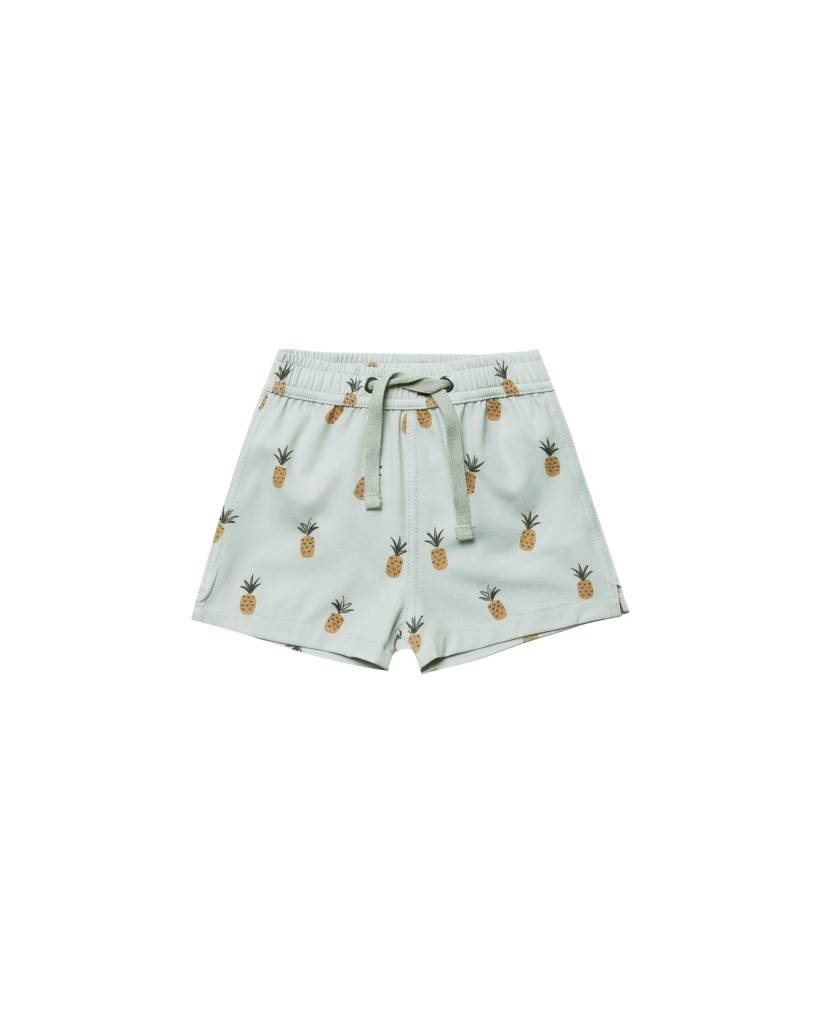 RYLEE AND CRU Baby Pineapples Swim Trunk
