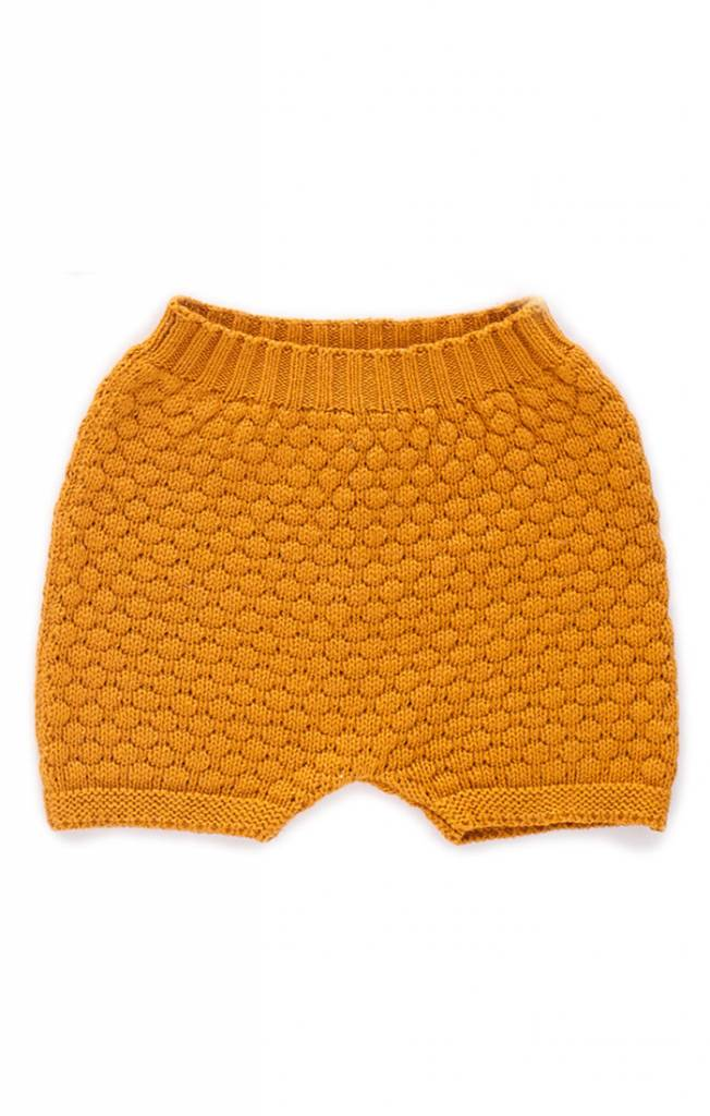 OEUF Baby Honeycomb Knit Shorts