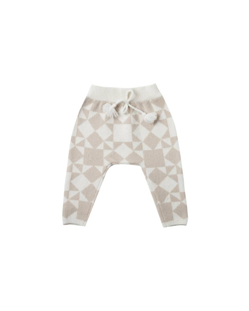 RYLEE AND CRU Patchwork Jacquard Knit Pant