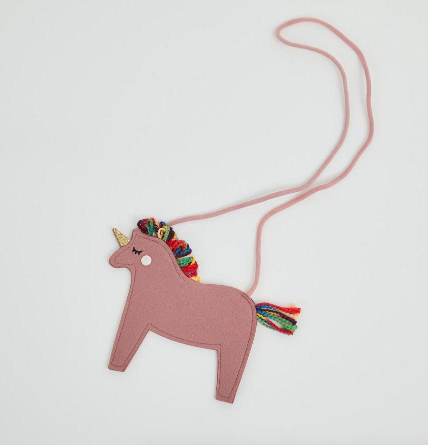 PETITE HAILEY Pink Unicorn Crossbody