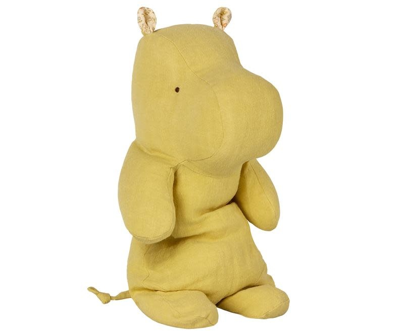 MAILEG Safari Friends Lime Yellow Medium Hippo
