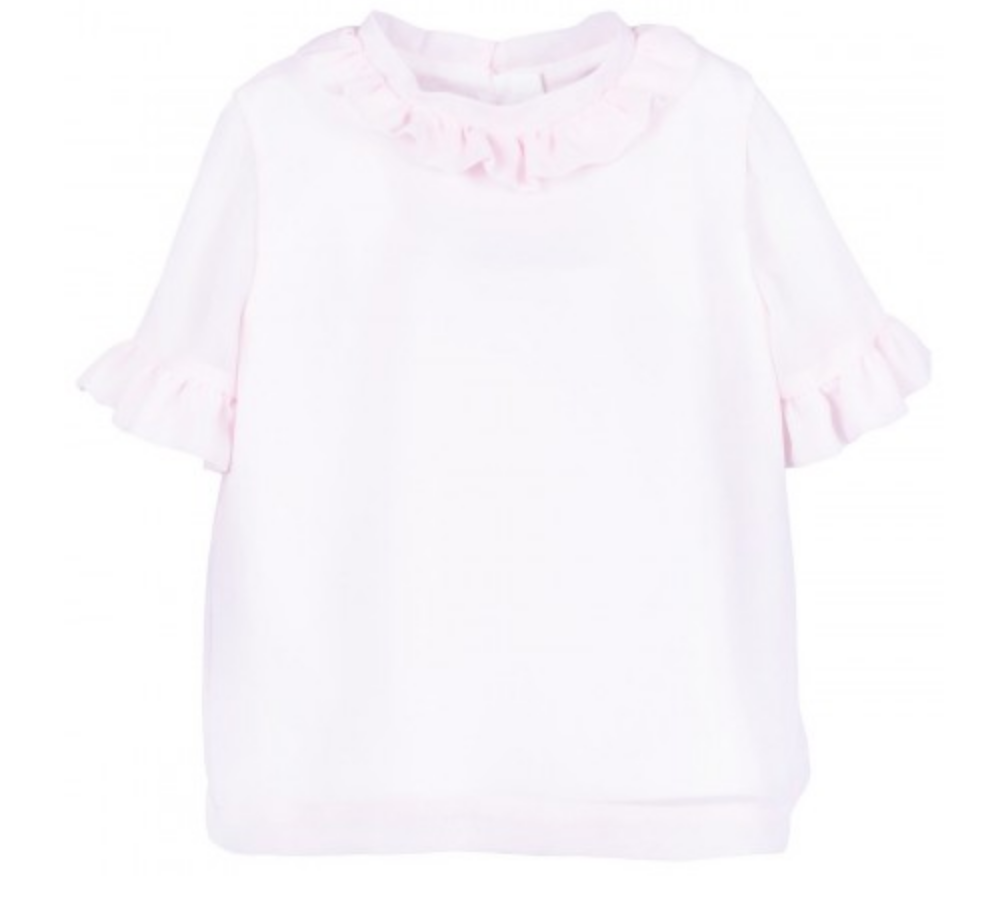 HUCKLEBONES Short Sleeve Ruffle Blouse