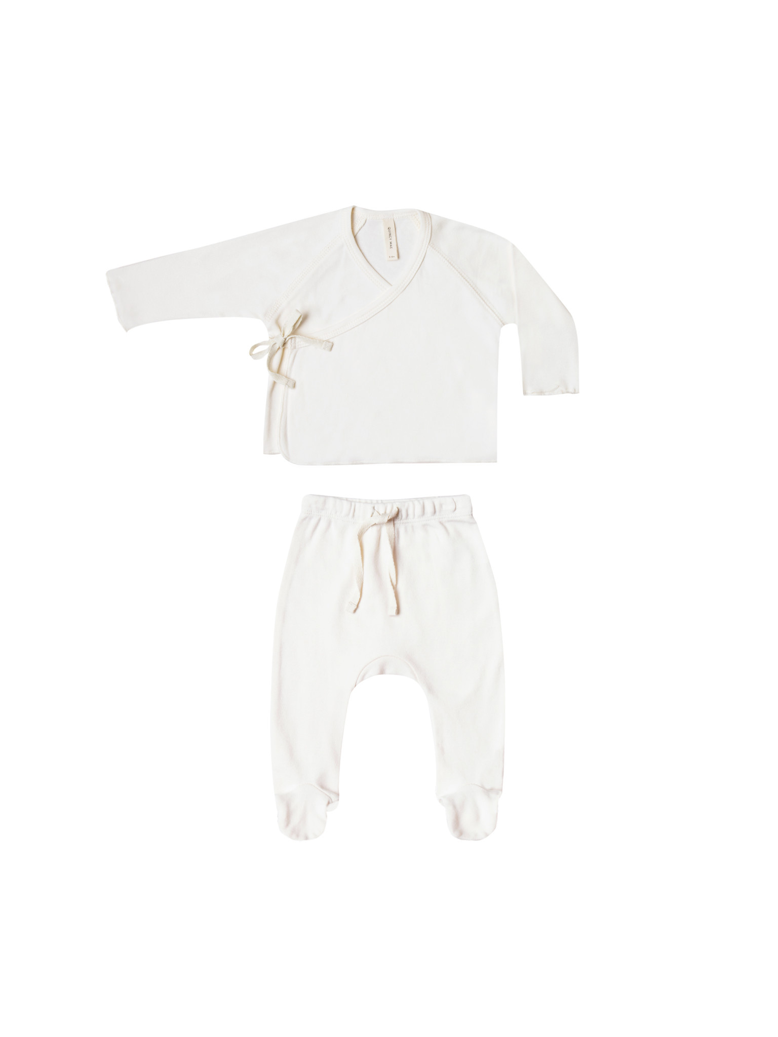 QUINCY MAE Organic Kimono Top and Footed Set