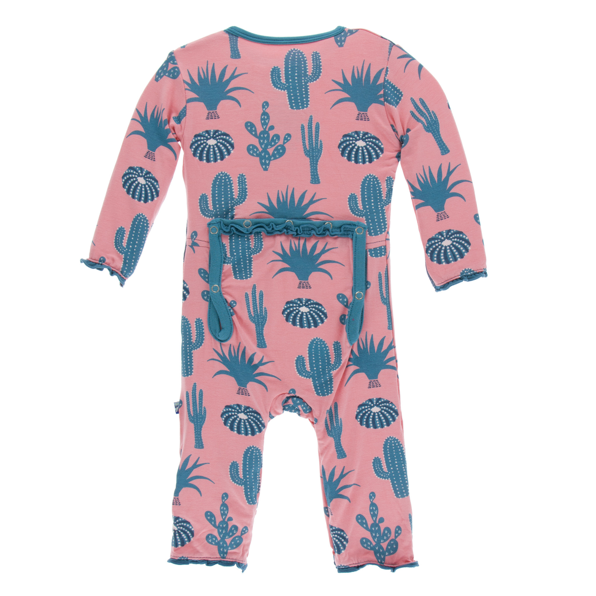 KICKEE PANTS Print Muffin Ruffle Coverall With Zipper