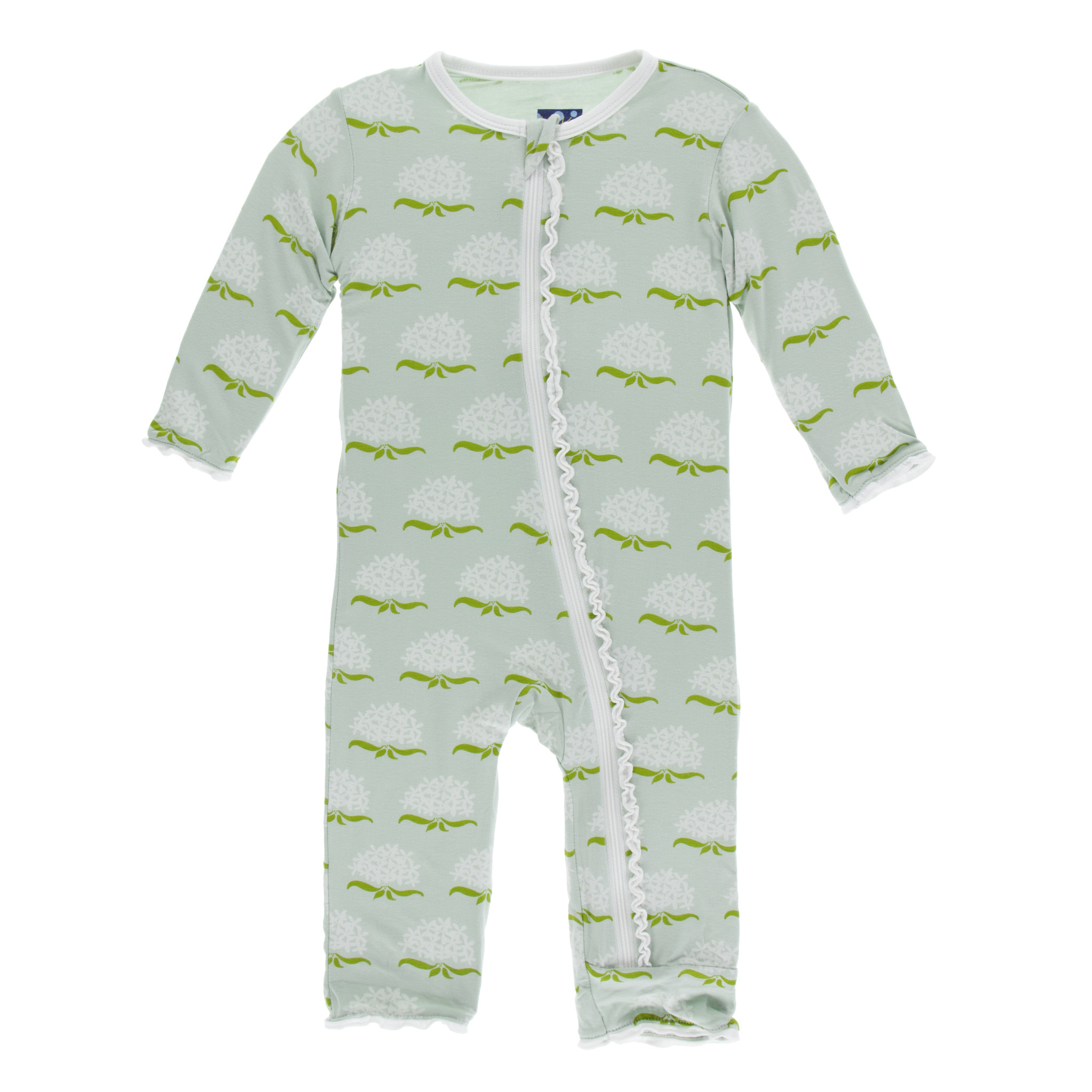 KICKEE PANTS Print Layette Classic Ruffle Coverall With Zipper