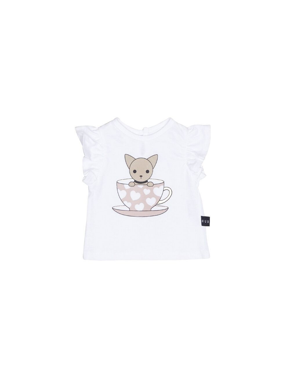 HUX BABY Chihuahua Wide Frill Top