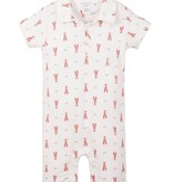 FEATHER BABY Collared Romper