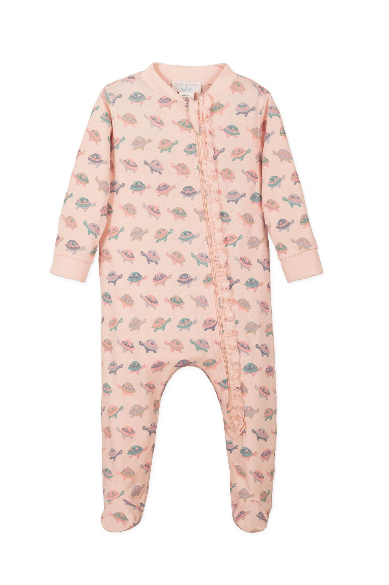 FEATHER BABY Zipper Footie