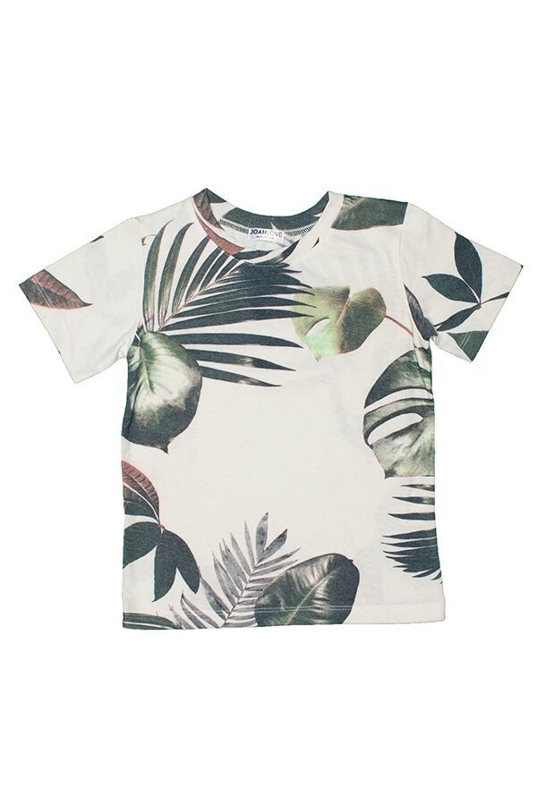 JOAH LOVE Ziggy Palm Print Tee