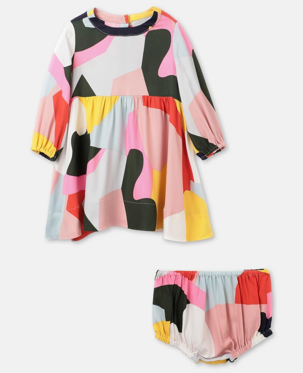 STELLA MCCARTNEY Long Sleeve Colorblock Dress