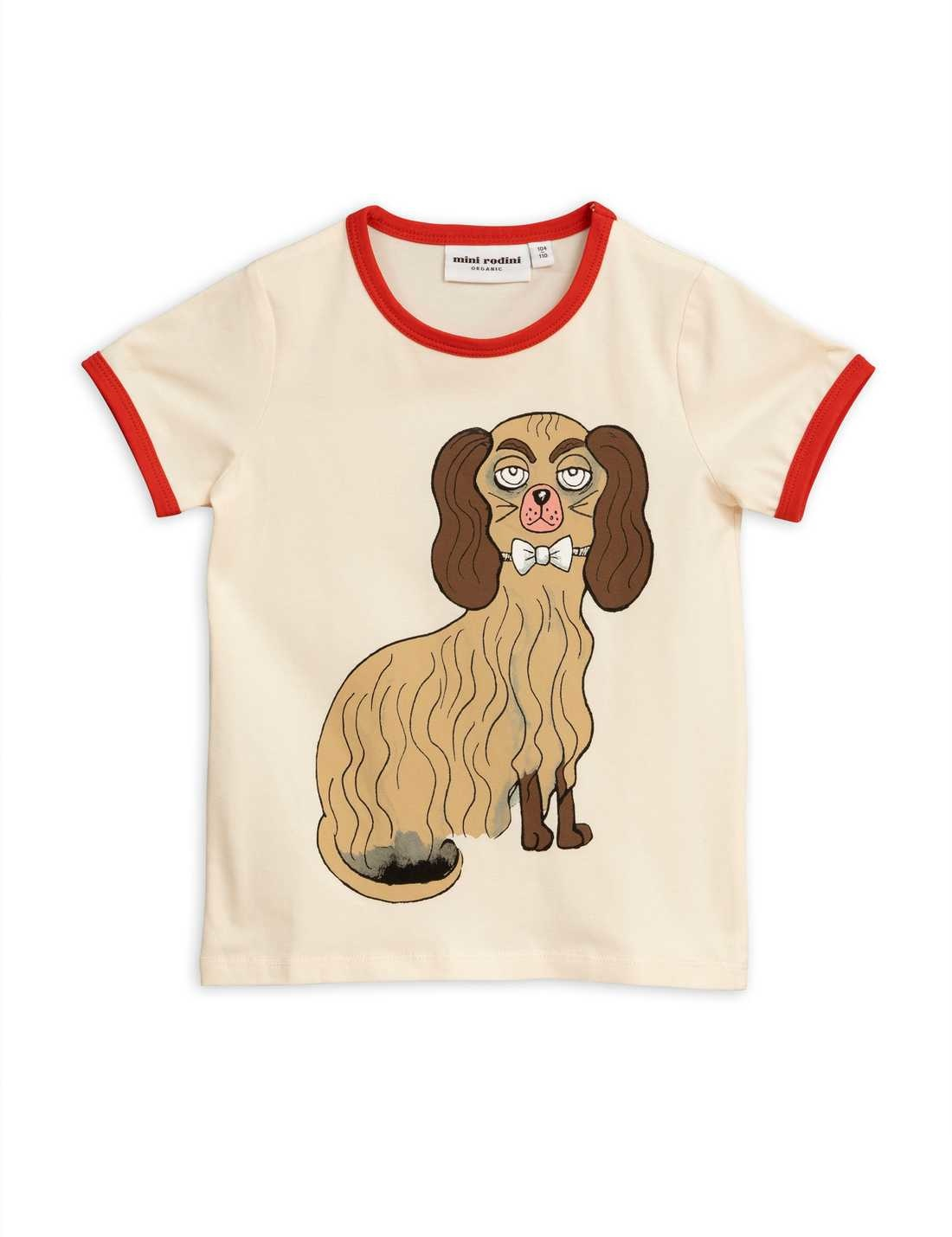 MINI RODINI Dashing Dog Binding Tee
