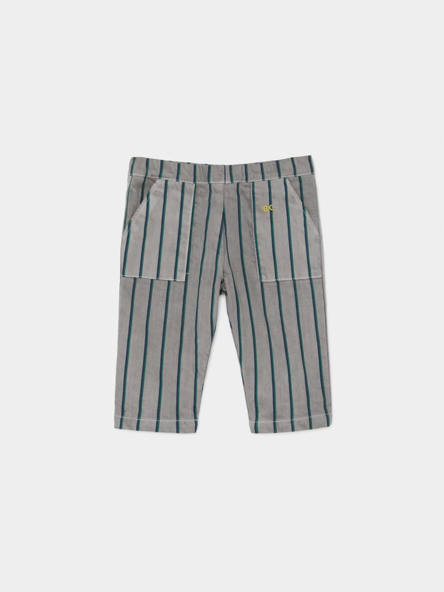BOBO CHOSES Striped Straight Pants