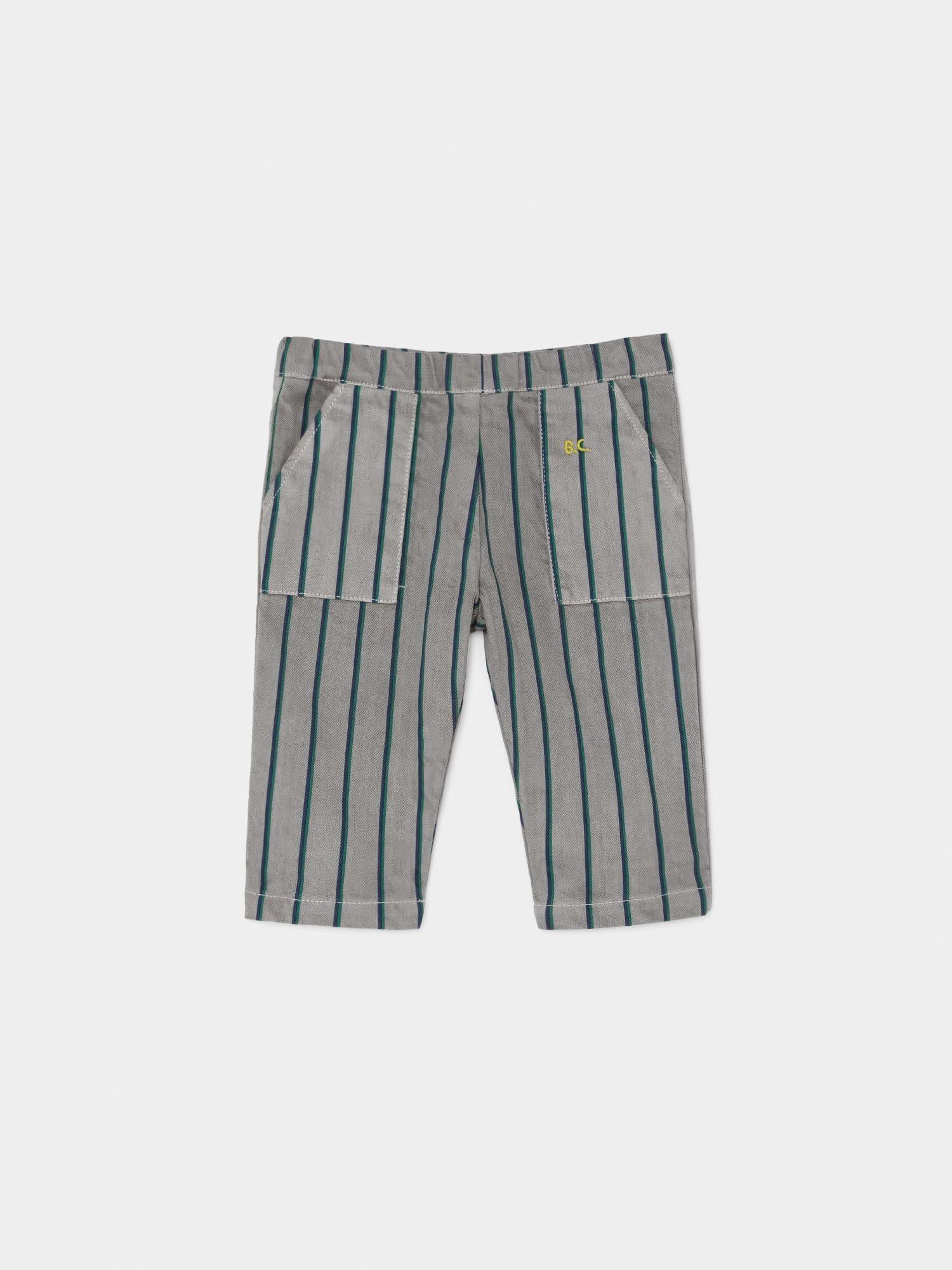 BOBO CHOSES Striped Straight Pants