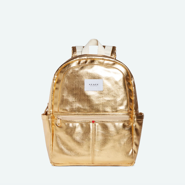STATE BAGS Kane Backpack Metallic Gold