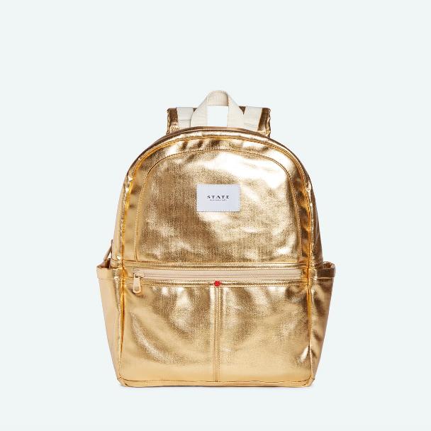 STATE BAGS Kane Backpack Metallic Gold