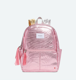 STATE BAGS Kane Backpack Metallic Pink and Silver