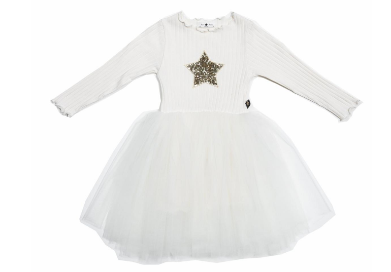 PETITE HAILEY Star Sha Longsleeve Tutu Dress