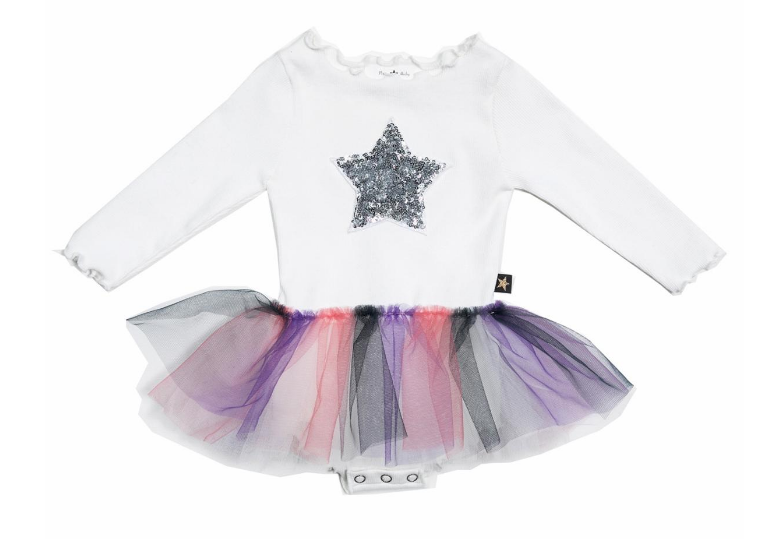 PETITE HAILEY Baby 3 Color Tutu Dress