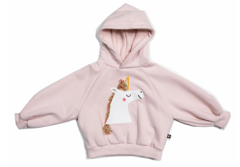PETITE HAILEY Unicorn Balloon Hoodie