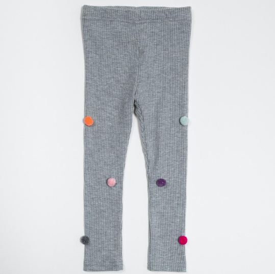PETITE HAILEY Baby Pompom Leggings
