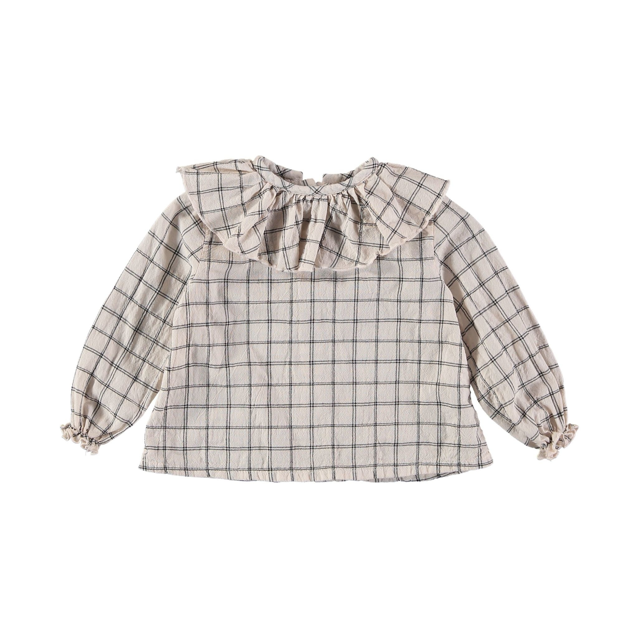 BUHO Juliette Check Collar Blouse