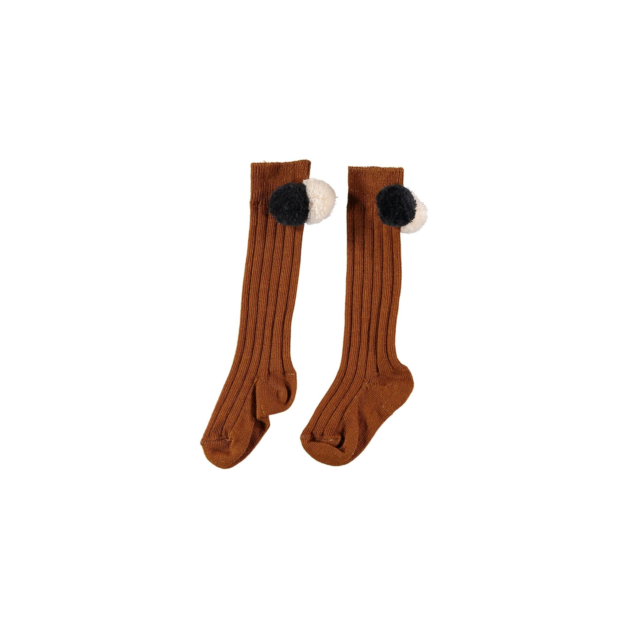 BUHO Pom Pom Rib Socks