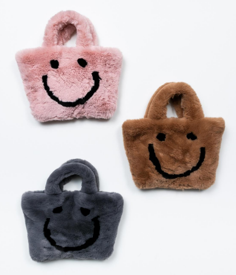 PETITE HAILEY Happy Face Tote