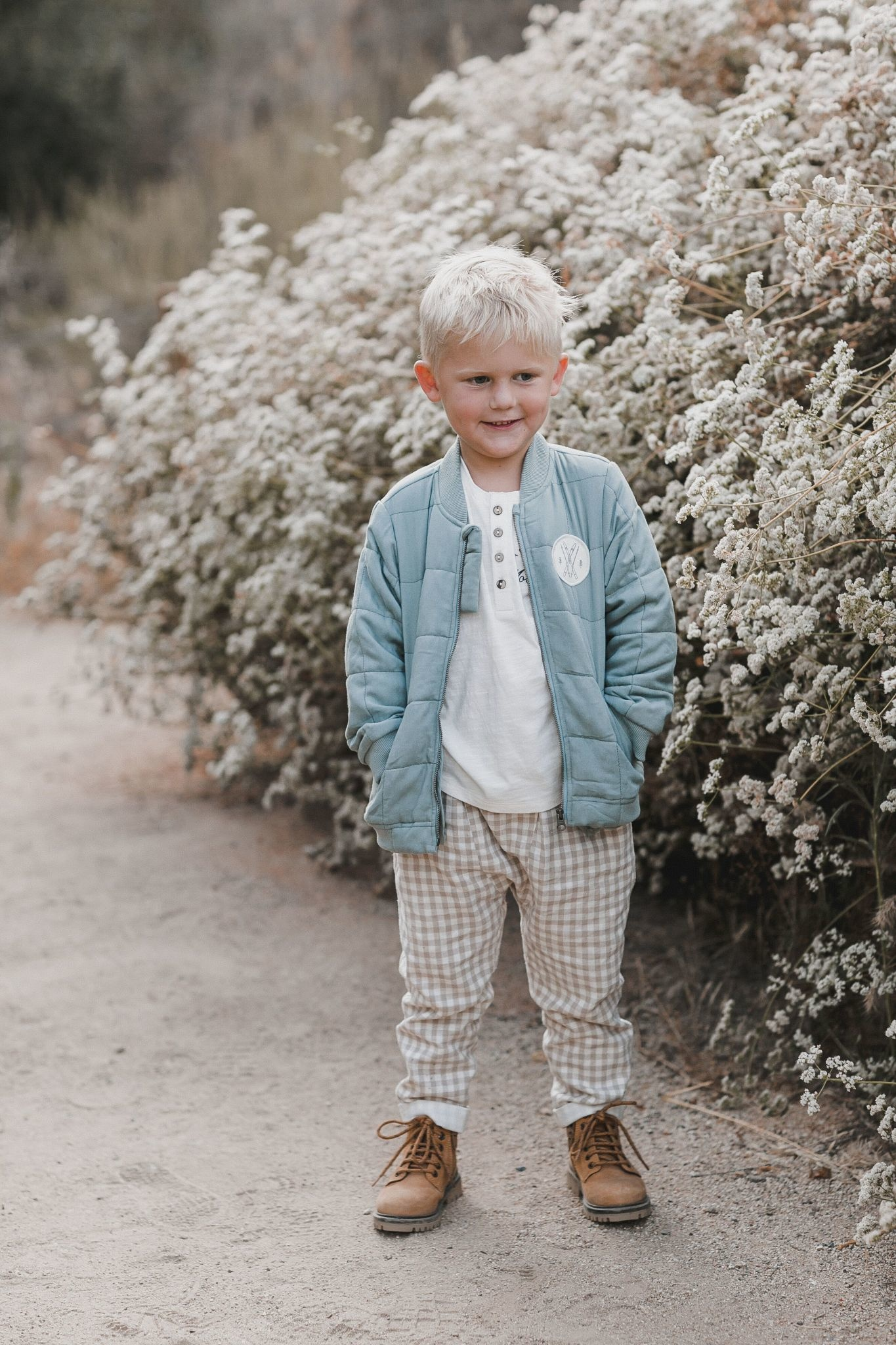 RYLEE AND CRU Quilted Baby Bomber Jacket