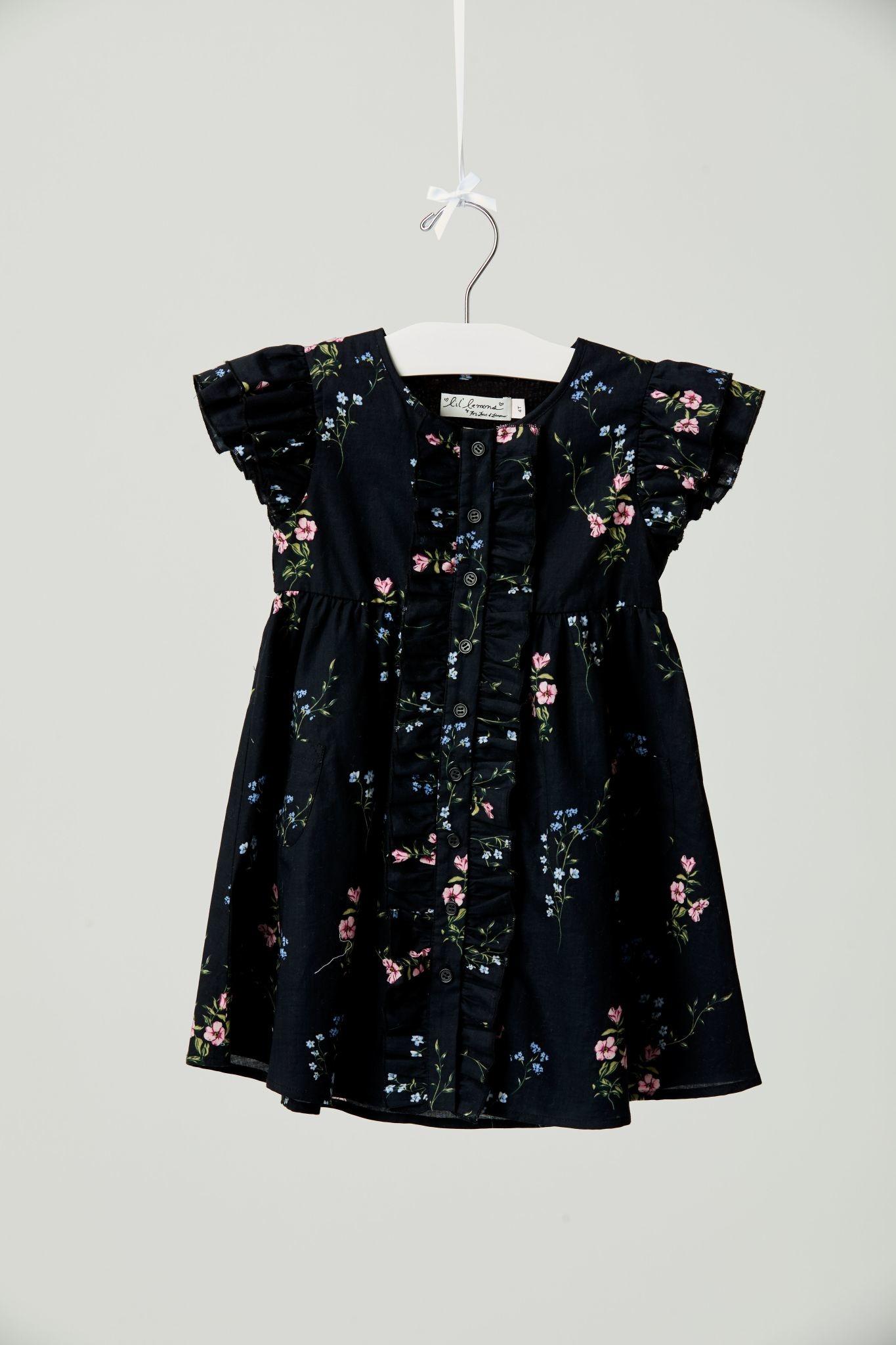 LIL' LEMONS Flower Patch Ruffle Dress