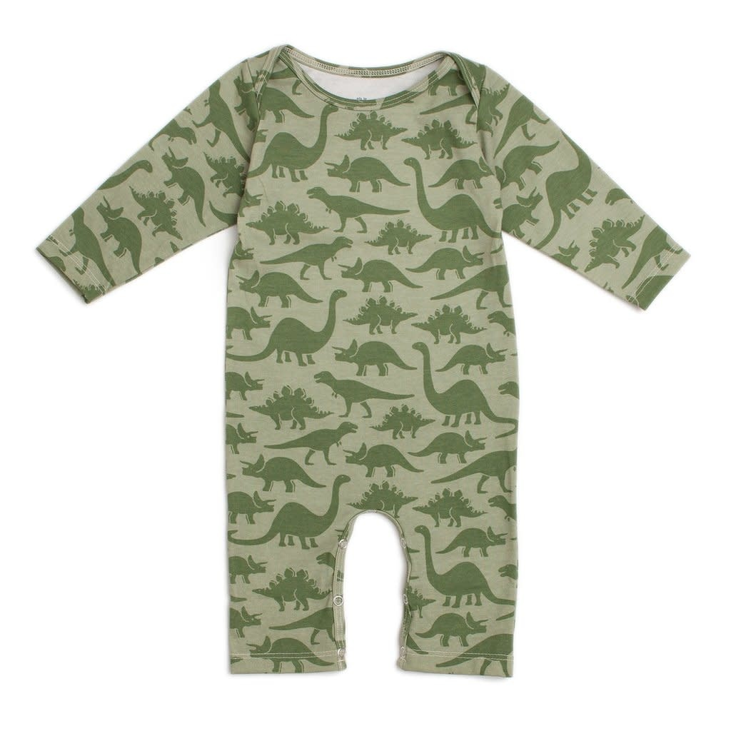 WINTER WATER FACTORY Dinosaur Long Sleeve Romper