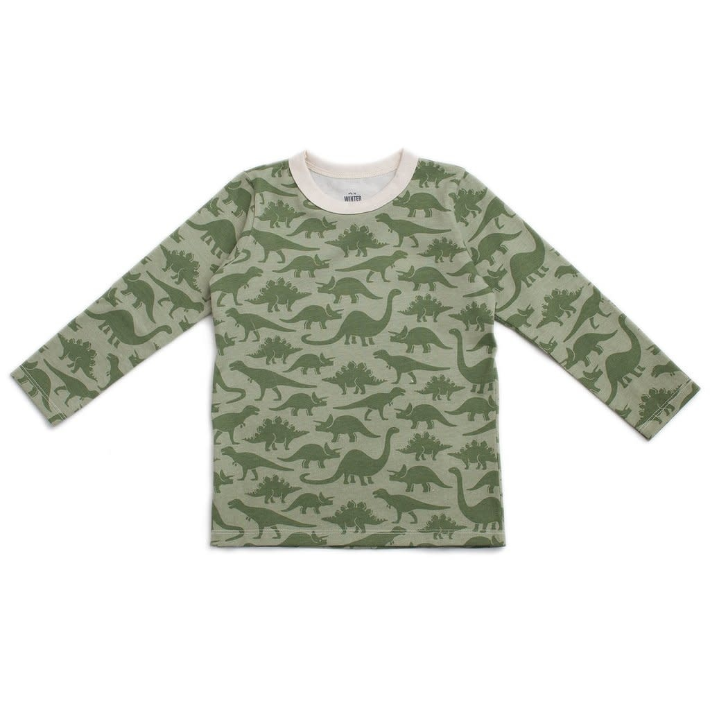 WINTER WATER FACTORY Dinosaur Long Sleeve Tee