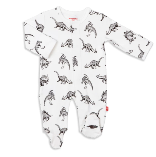 MAGNIFICENT BABY Organic Cotton Magnetic Footie