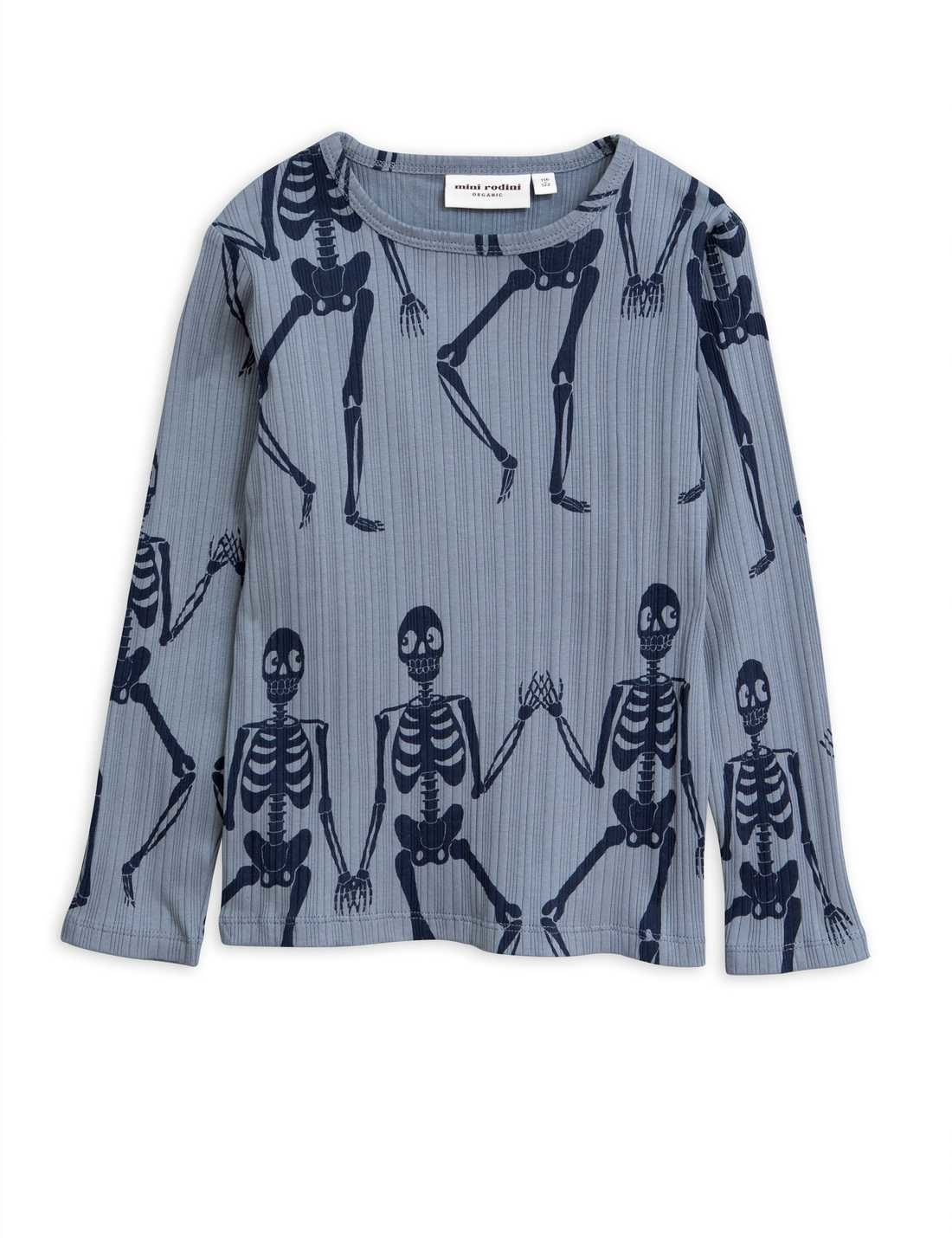 MINI RODINI Skeleton Longsleeve Tee