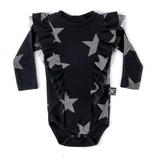 NUNUNU Ruffled Star Bodysuit