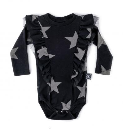 NUNUNU Ruffled Star Bodysuit