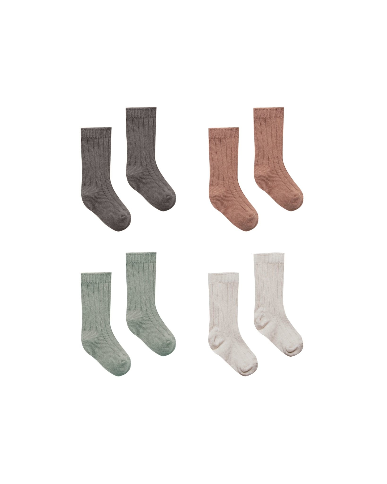 QUINCY MAE Organic Ribbed Knit Baby Socks