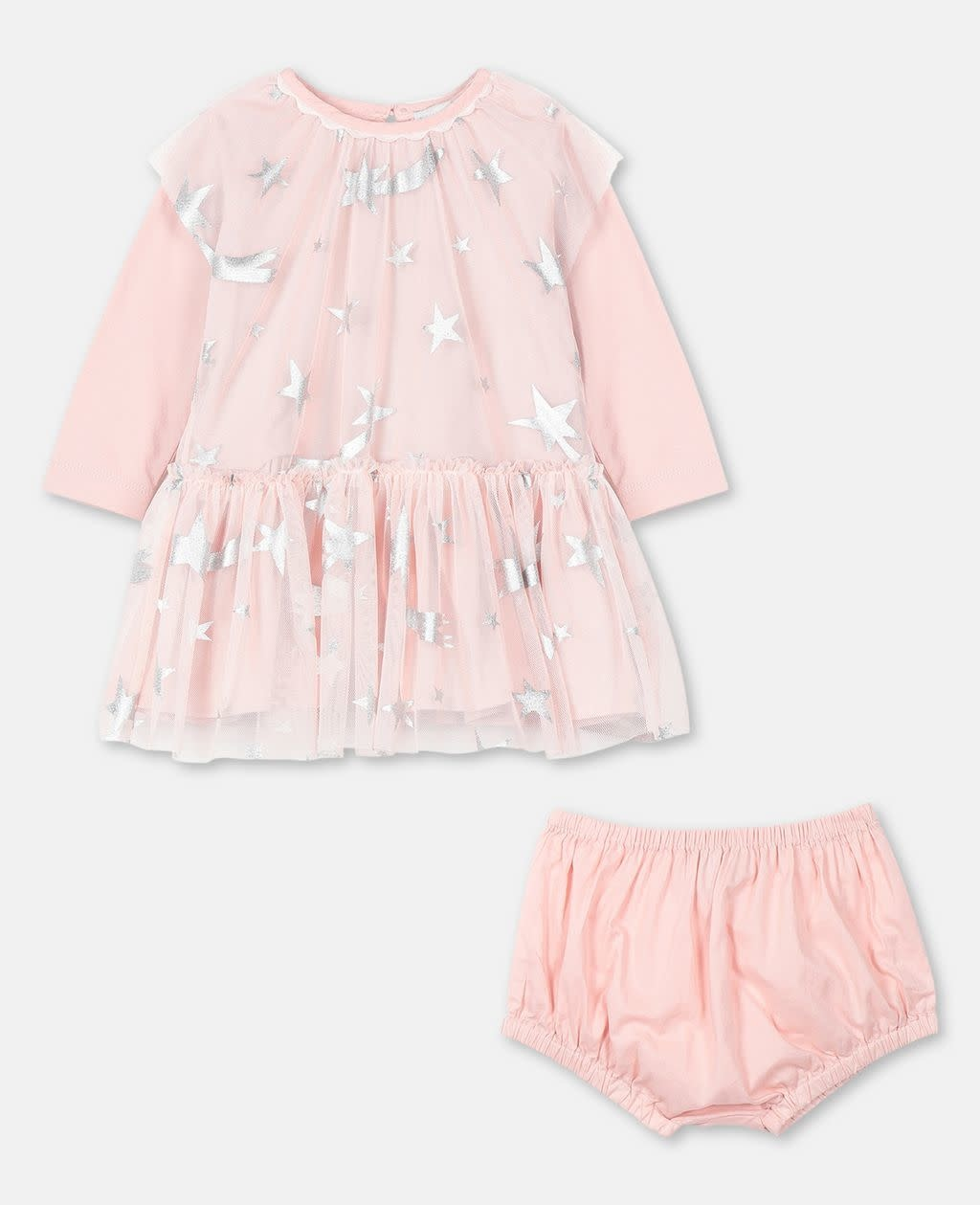 STELLA MCCARTNEY Baby Girl Star Tulle Dress