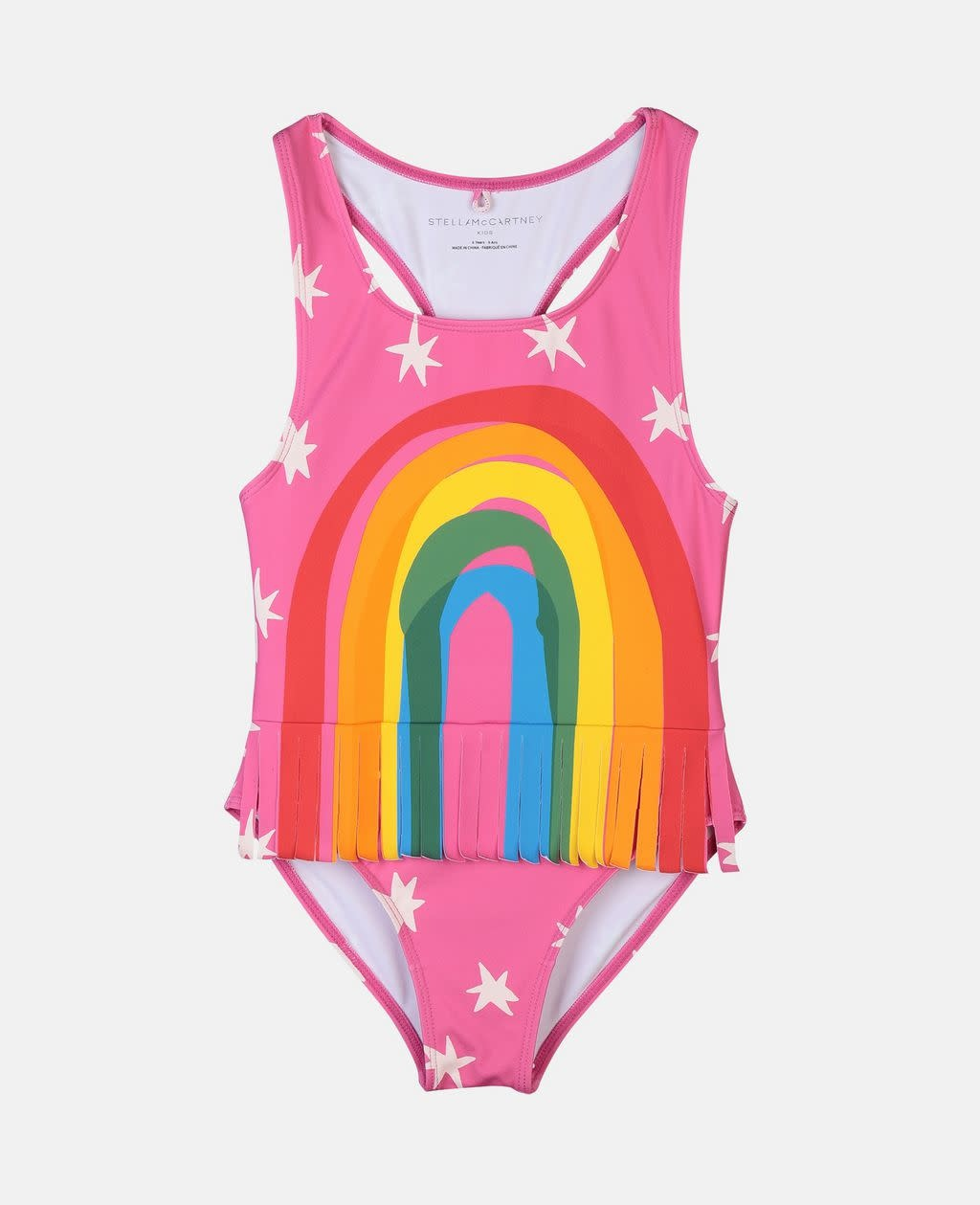 STELLA MCCARTNEY Rainbow One Piece Swimsuit with Fringe
