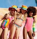 STELLA MCCARTNEY Rainbow One Piece Swimsuit with Fringe