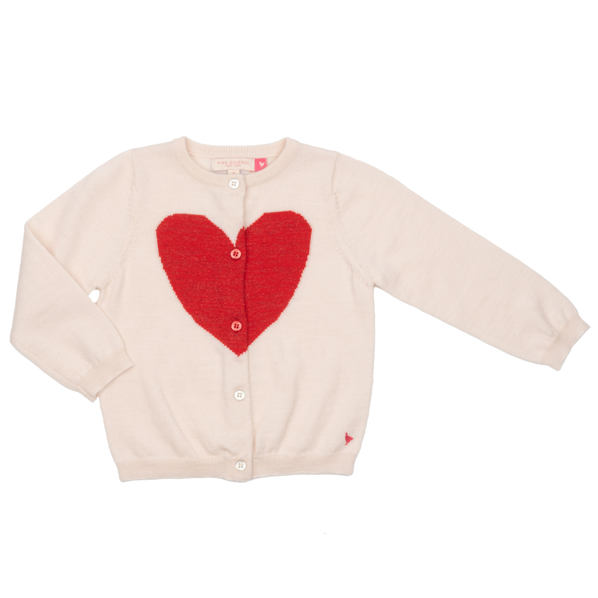 PINK CHICKEN Hannah Heart Sweater