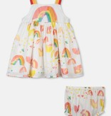 STELLA MCCARTNEY Sleeveless Paint Rainbow Dress