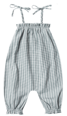 RYLEE AND CRU Gingham Bubble Jumpsuit