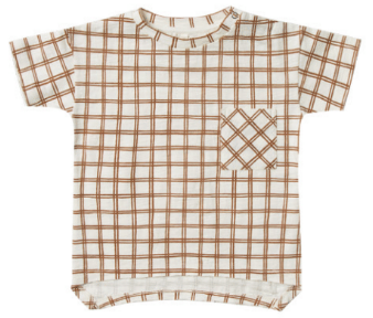 RYLEE AND CRU Grid Raw Edge Tee