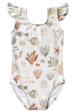 RYLEE AND CRU Sea Life Frill Onepiece