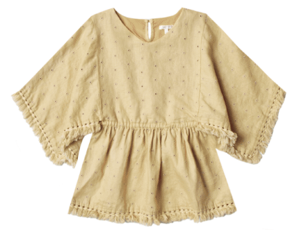 RYLEE AND CRU Eyelet Beach Kaftan