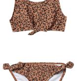 RYLEE AND CRU Cheetah Daisy Knotted Bikini